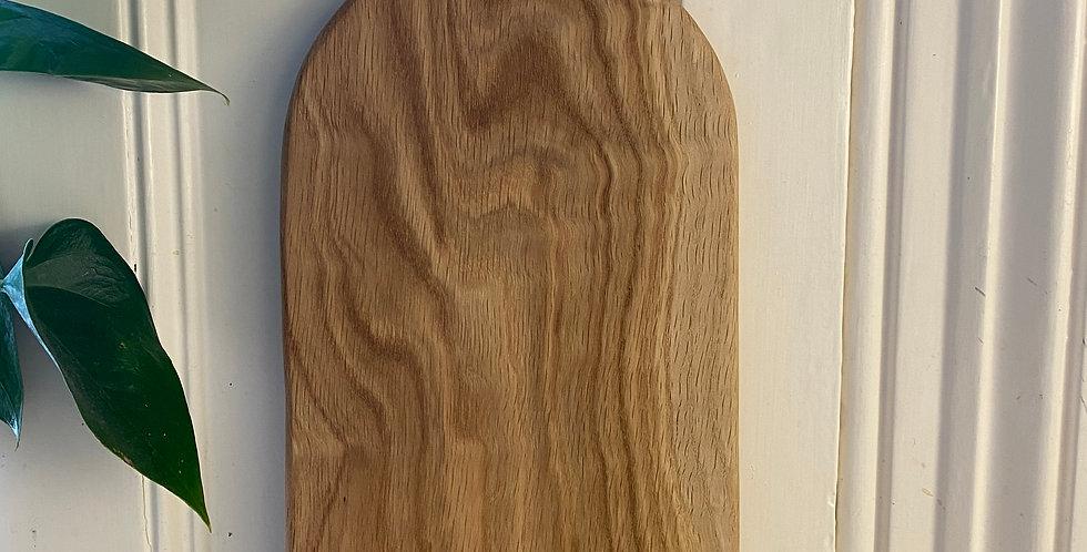 White Oak paddle board with swirling grain 47cm