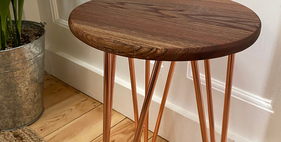 English Elm side table (COPPER)