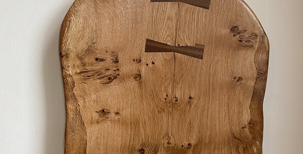 Extra Large Pippy Oak paddle board with Walnut bow ties 65cm