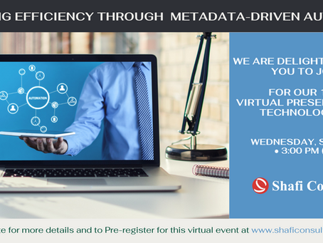 Register for our Virtual Session:  Increasing efficiency through metadata-driven automation