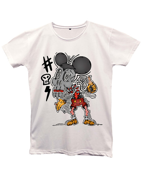 """""""MICKEY SKULL"""" on MII60 white and black - Made in Italy"""