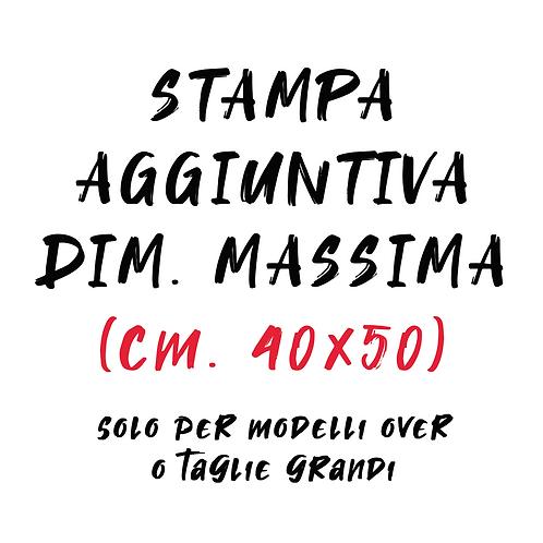 Stampa aggiuntiva dimensione massima (formato cm. 40x50)