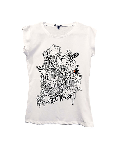 """""""WE ARE WHAT WE EAT"""" on Short sleeve t-shirt  - High quality cotton"""