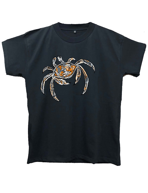 """THE CRAB""on MIIGC black and white - High quality cotton"
