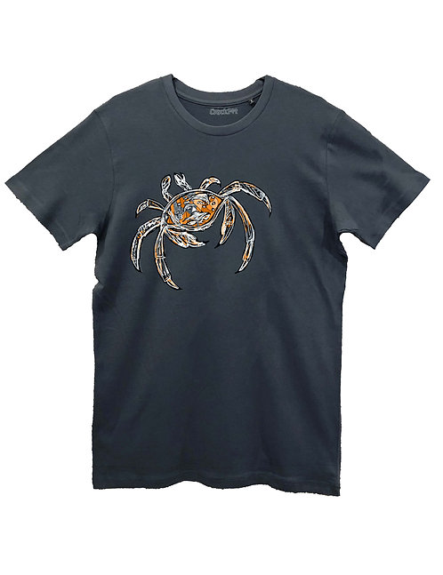 """THE CRAB"" on BASIC grey, white and black"