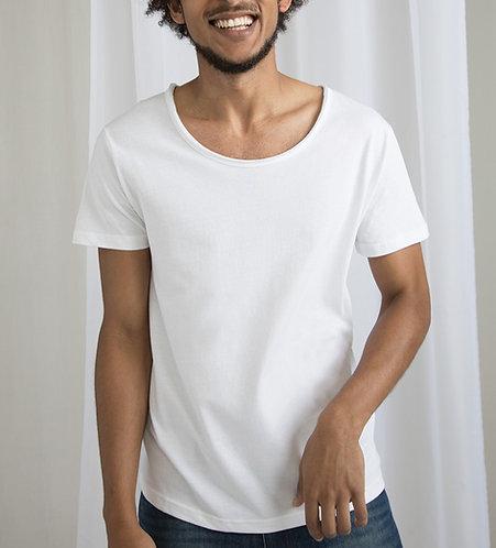 Man - ORGANIC COTTON T-SHIRT -Black / White
