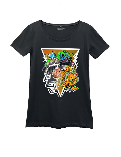 """CLOCKWORK CRACKPOT"" on Round neck t-shirt - High quality cotton"