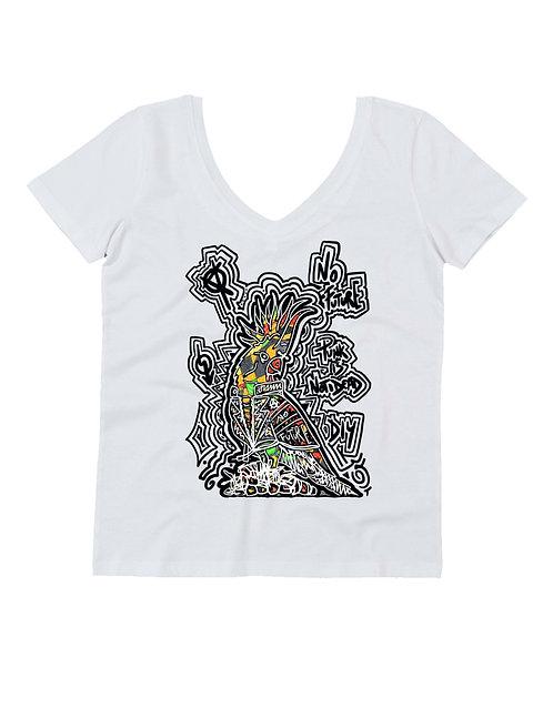 """""""PUNKROTT"""" on woman V neck t-shirt"""