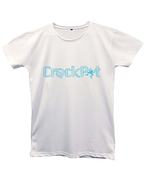 CRACKPOT pattern light blue on MII60 white and black