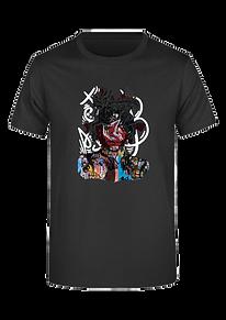 Basquiat su t-shirt nera uomo.png