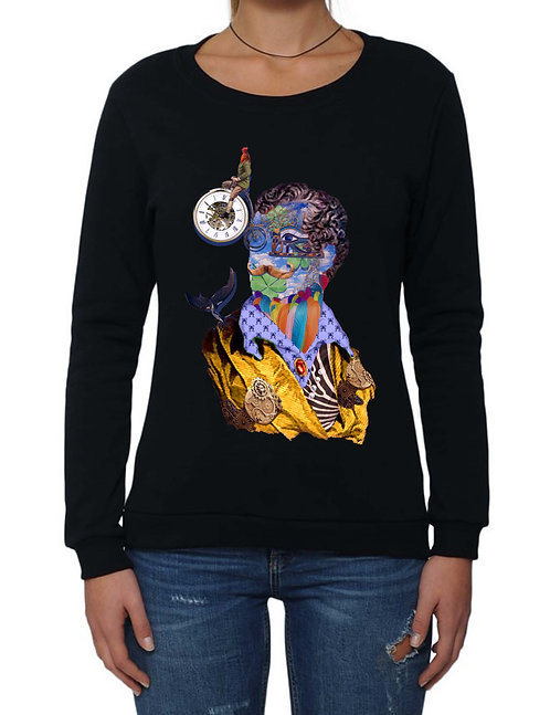 """RUOTA LA GIRA"" on Basic Sweatshirt - High quality cotton"