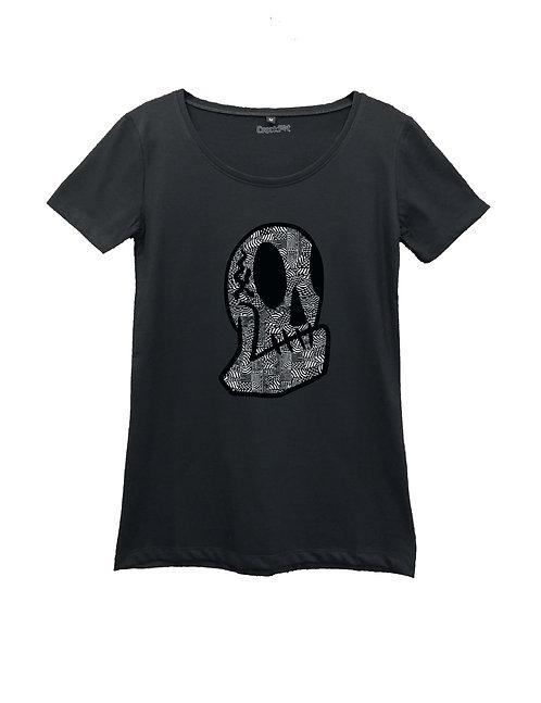 """BLACKSHINE CALAVERA"" on Round neck t-shirt - High quality cotton"