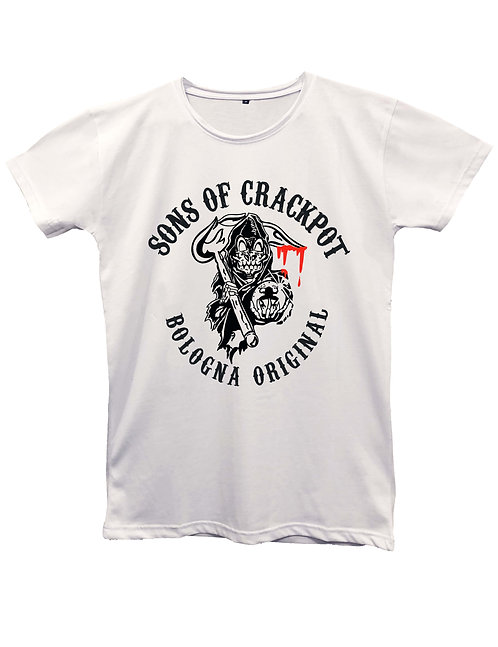 """""""SONS OF CRACKPOT"""" on MII60 white and black - Made in Italy"""