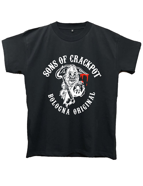 """SONS OF CRACKPOT"" on MIIGC black and white - High quality cotton"