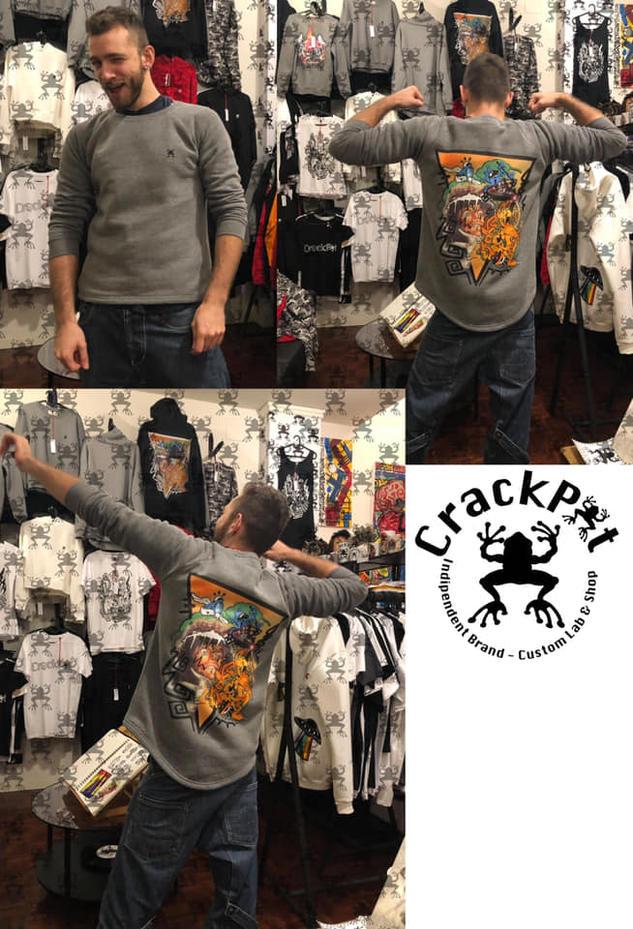Felpe con disegni originali - CrackPot Bologna