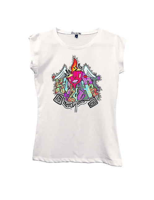 """SACRED HEART"" on Short sleeve t-shirt  - High quality cotton"