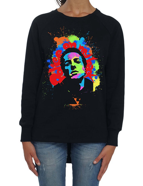 """JOE STRUMMER"" - Long Back Sweatshirt - High quality cotton"