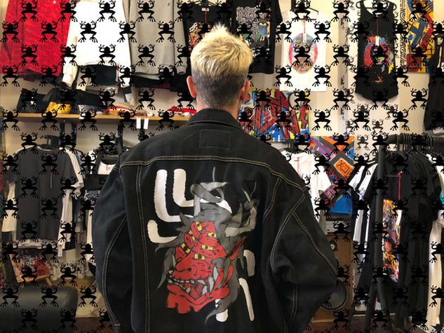 Stampa su giacca jeans - CrackPot Bologna