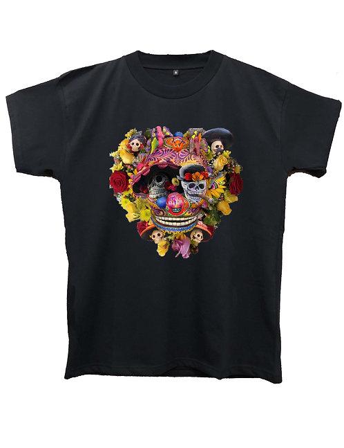 """FLOWER CALAVERA"" on MIIGC black and white - High quality cotton"