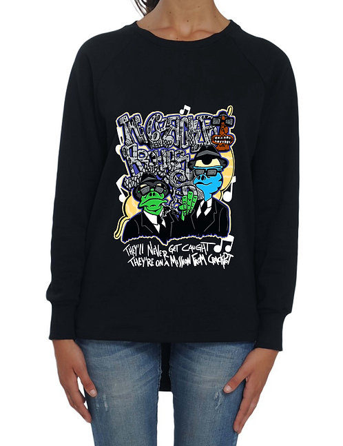 """CRACKPOT BROTHERS"" - Long Back Sweatshirt - High quali"