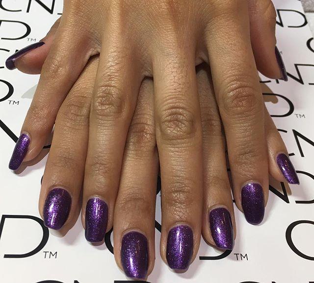 Natural nail gel manicure using CND Crea