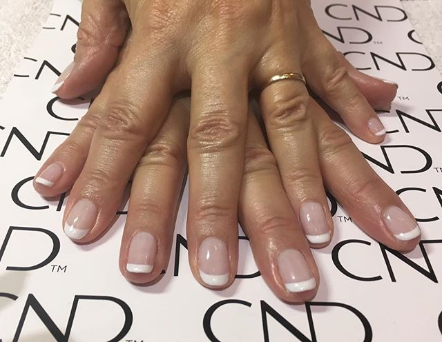 Classic French shellac manicure