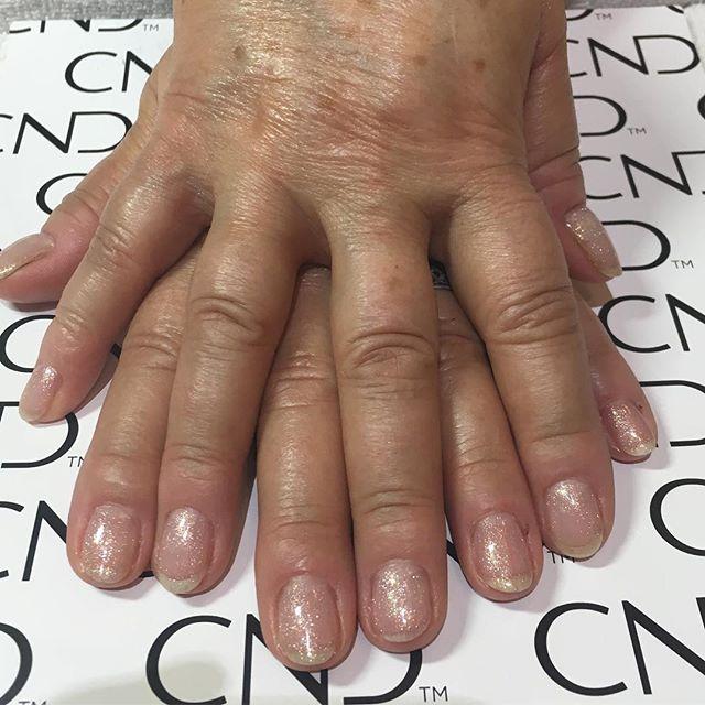 Nice simple gel manicure! CND Creative p