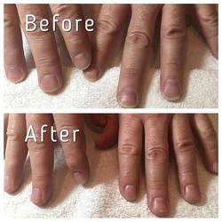 Manicure on some hard working hands! #nvesthetics #yegmanicure #shop124street #yeghairsalon #780 #ed