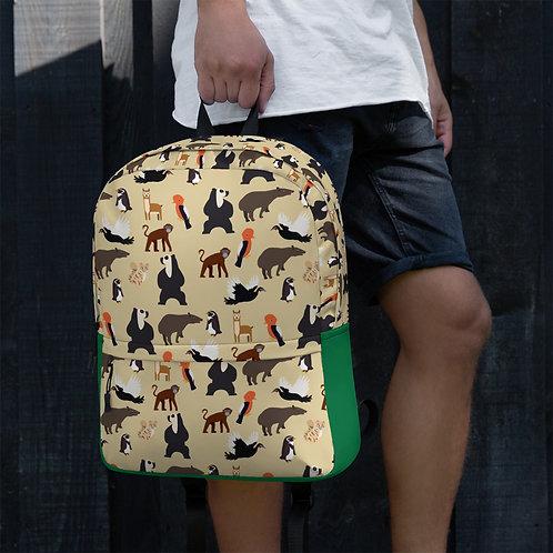 Endangered Species Wild Backpack Beige