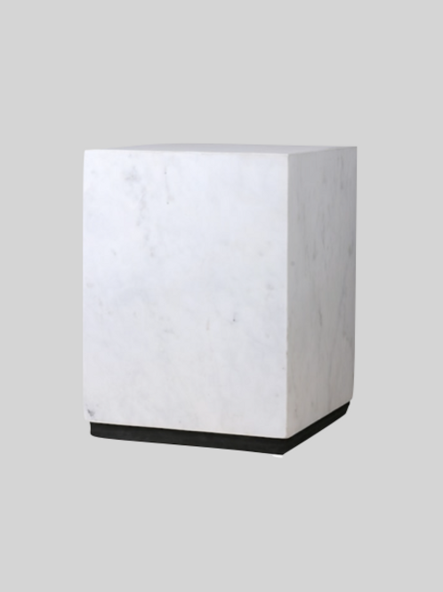 White Marmor Block Table M
