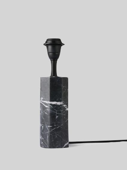 Table Lamp - Sort marmor