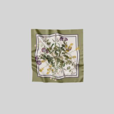 Green flora - scarf