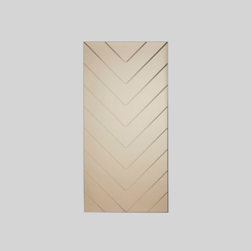 Herringbone Spejl - Large - Bronze