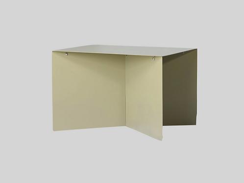 metal side table rectangular - olive
