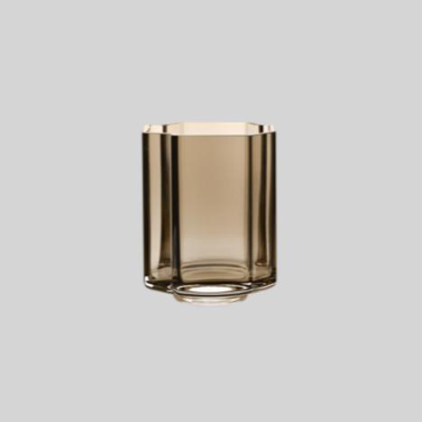 Asymmetric vase - smoke