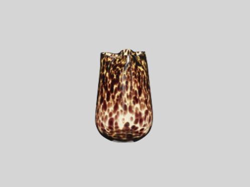 Vase - glas i smuk gul/brun