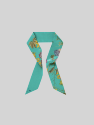 Turquoiseflower - skinny scarf