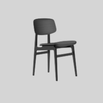 Dining Chair - Sort / Læder
