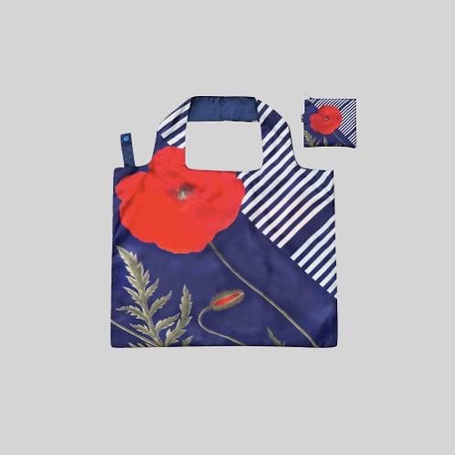 Tote bag - foldable poppy