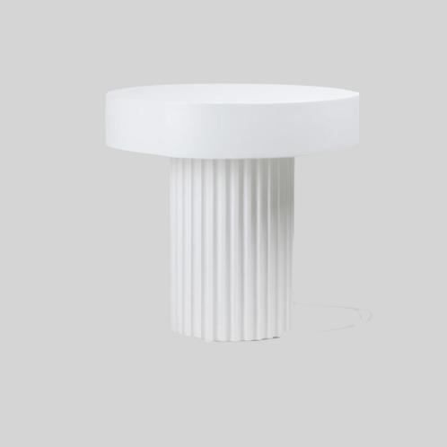 pillar coffee table round white