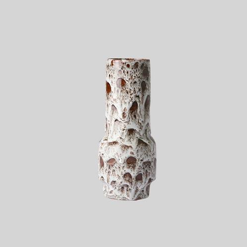Ceramic retro - vase - lava white