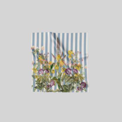 Striped flower meadow - scarf