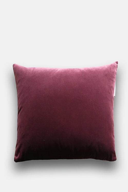 Velvet Cushion - L'Aubergine