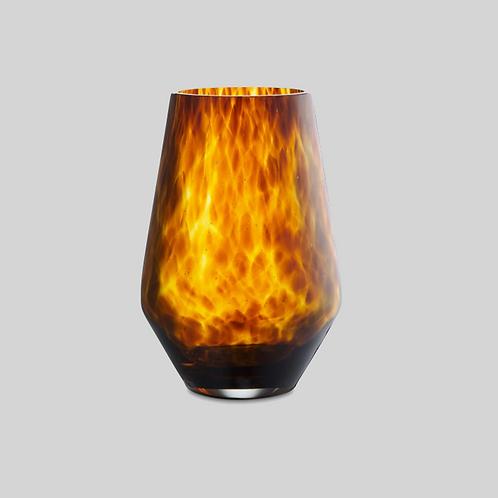 Brun glasvase, Viola, 35 cm.