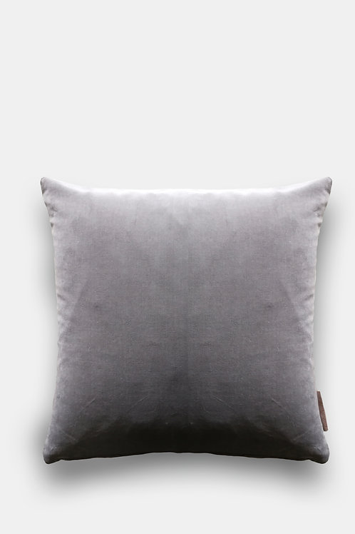 Velvet Cushion - Steel Grey