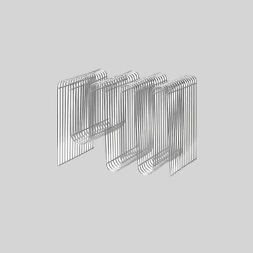 Curva Magazineholder - Sølv
