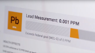 Lead Testing Results on Tap Score Verge