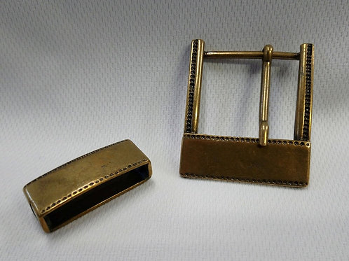 Antique Brass Buckle and Loop Set