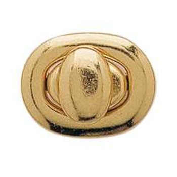 Oval bag clasps / turn buttons- Small Oval