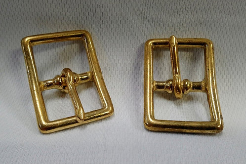 Solid Brass Double Buckle - 2 Pack